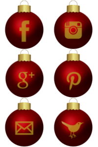 christmas-red-bauble-social-media-icon-set