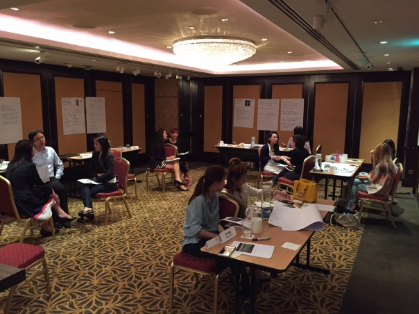 Participants at the SalesPower Masterclass involved in sales conversations